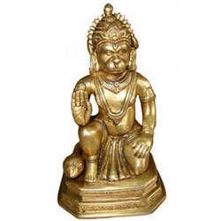 Hanuman Sitting On Hexagonal Base