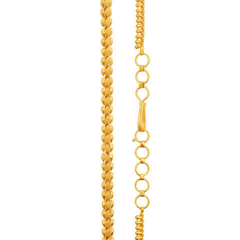 Chains And Necklaces Unique Yellow Gold Tanishq Necklace