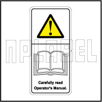 770604 sticker carefully read operator s manual