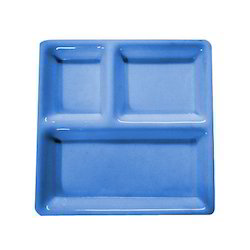 Acrylic Compartment Plate