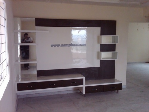 Interior Design Living Room Tv Unit at Rs 29000  Tv Wall Unit  ID ...