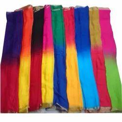 Pure Shiffon Border With Half-Half Sarees Fabrics