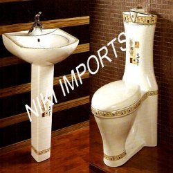 Toilet With Pedestal Basin