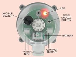 adjustable differential pressure alarm switch