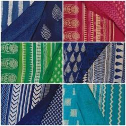 Hand Block Printed Cotton Sarees