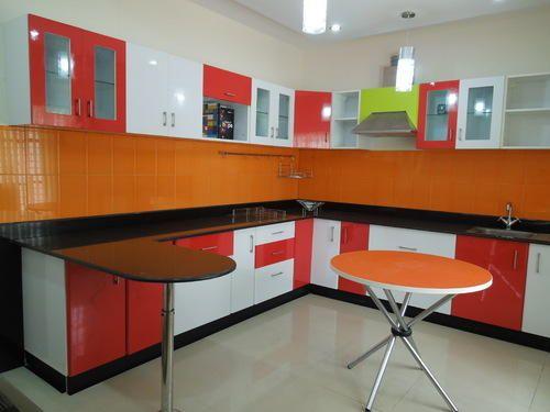 Radhey building construction modular kitchen for Modular kitchen designs aluminium