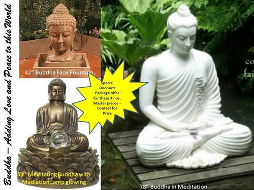 Lord Buddha Statue in Different Forms - 3 pieces