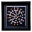 25 Countries Coins with Framing