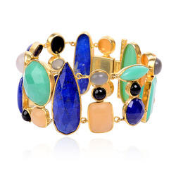 18k Gold Gemstone Bracelet