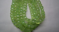 Prehnite Chalcedony Faceted 3D Cubes
