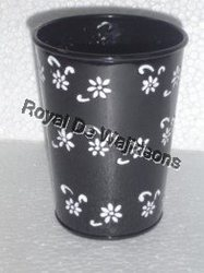 round handpainted pot