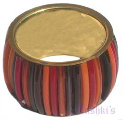 Brass Painting Napkin Ring