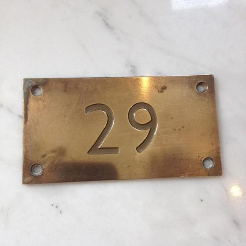 Brass Room Number Plates