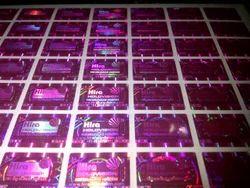 Pink Color Hologram Labels