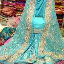 Blue Bridal Gharara