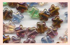 Glass Star Beads