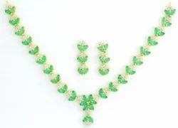 Emerald Gold Necklace Set