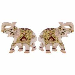 Marble Elephants Statue