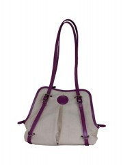 White and Mauve Color Combination Handbags