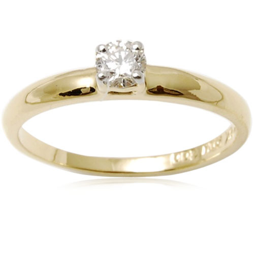 Solitair Diamond Engagement Mens Gold Ring