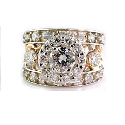 round diamond wedding ring