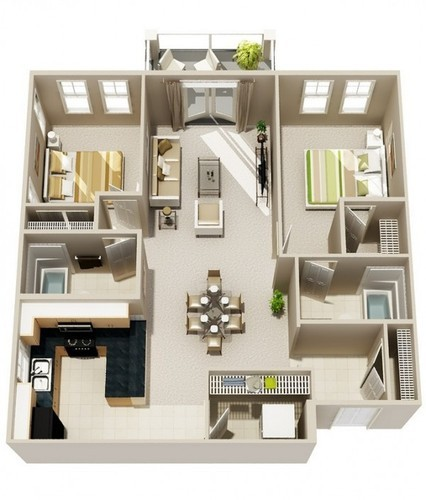Home Plan And 3d Drowning 2 Bhk Plan Manufacturer From Hindoli