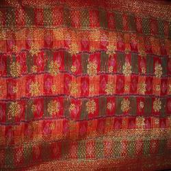 Red Print Jacquard Songket