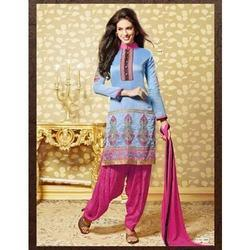 Designer Chanderi Cotton Dress Material