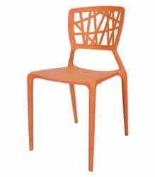 orange plastic chair. Plastic Chair Orange E