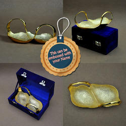 Gold Plated Pair Of Ducks - A Multipurpose Serving Tray