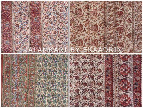 Kalamkari Hand Block Print Fabric Sarees Textile Bagru