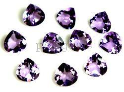 Amethyst Faceted Heart Gemstone