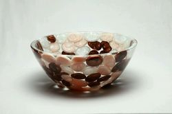 Prayosha Round Brown Pebbles Washbasin
