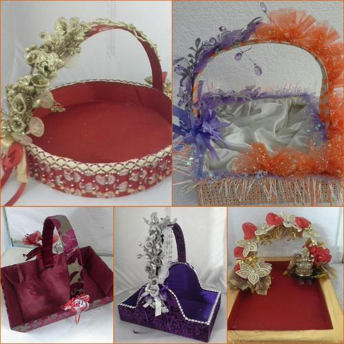 Wedding Gift For 500 Rs : Wedding Engagement Baskets, Laxmi Art & Craft in Rani Bagh, Delhi ...