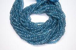 London Blue Mystic Quartz Faceted Beads