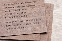 Wooden Visiting Cards with Print or Laser Cut Patterns