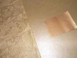 Metallic Embossed Handmade Papers in Gold Colors