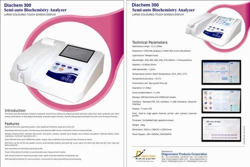 Semi Auto Biochemistry Analyzer-Diachem 300