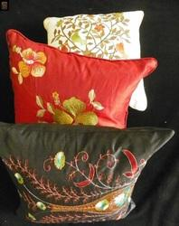 Embroidered Silk Cushions