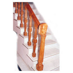 Modern Wooden Staircase Railing