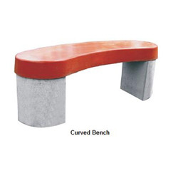 Red Color Curved Bench