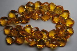 10 Pieces Match Set, Golden Quartz Faceted Cousion Shape