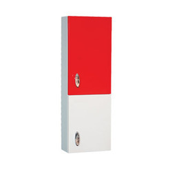 Red White Bathroom Cabinets