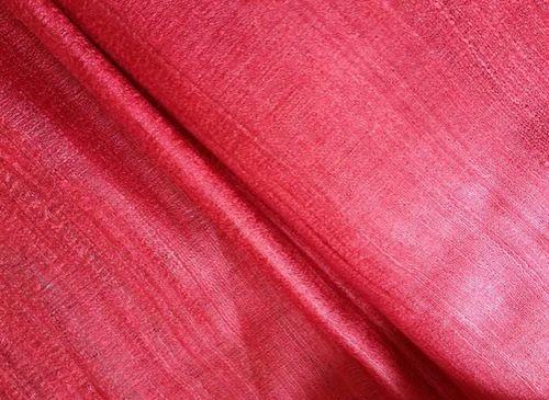 Striped tussar silk fabric