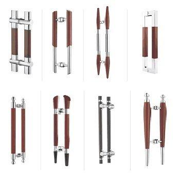 Glass Door Handle - Wooden Series