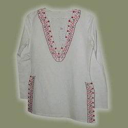 Stylish Embroidered Cotton Kurt