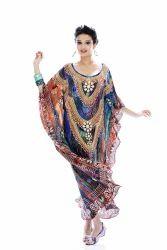 Silk Crepe Digitally Printed Kaftan