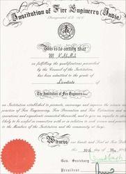 Licentiate Membership Certificate