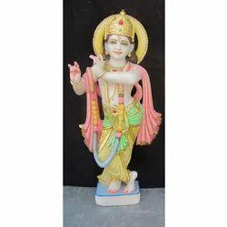Single Solo Krishna Marble Statue