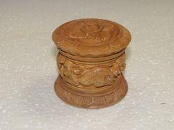 Kadam Wood Carving Dabbi